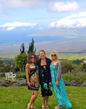 Stine, Karoline and I at the Lavender Farm in Kula